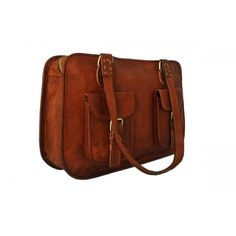 Brown genuine leather briefcase and laptop bag for women. This briefcase is for the professional ladies looking to spruce up their business bag game. Classic Leather, Vintage Leather, Brown Leather, Leather Briefcase, Leather Satchel, Leather Bags, Laptop Bag For Women, Work Bags, Business Women
