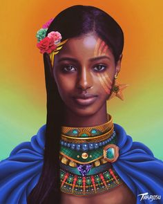 Drawing Woman Black Royalty is at the center of this visual artist's stunning pieces Black Girl Art, Black Women Art, Beautiful Black Women, Art Girl, African Art Paintings, Black Royalty, Black Art Pictures, Black Artwork, Afro Art