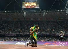 Usain Bolt.  Fastest man the world has ever seen...literally
