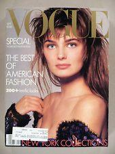 Vogue Magazine - September, 1986 -- Paulina Porizkova cover -- nice condition