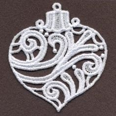FSL Filigree Christmas 6 - 4x4 | What's New | Machine Embroidery Designs | SWAKembroidery.com Ace Points Embroidery