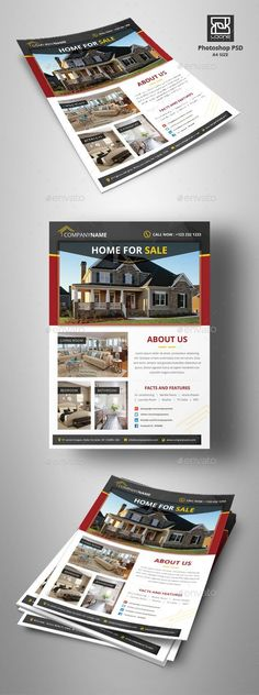Real Estate Flyer - Corporate Flyers ,#Real Estate #Flyer Download here: https://graphicriver.net/item/real-estate-flyer/20419949? ref=suz_562geid