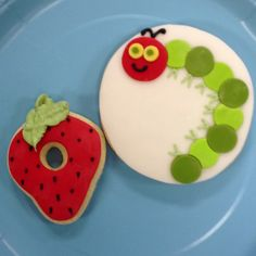The Very Hungry Caterpillar cookies.