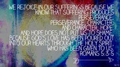 Romans 5:3-5 one of my favorite bible verses