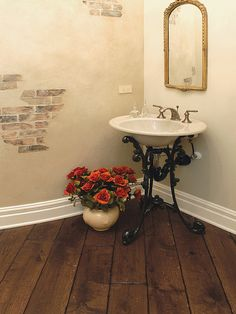powder room ideas | of: Powder Room Vintage Design, Pictures, Remodel, Decor and Ideas ...