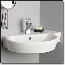 Wonderful The Wall Mounted Barcelona Corner Sink Provides Convenient Counter Top  Space In A Small ...