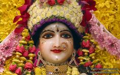 To view Radha Close Up Wallpaper of Bhaktivedanta Manor in difference sizes visit - http://harekrishnawallpapers.com/sri-radha-close-up-iskcon-bhaktivedanta-manor-wallpaper-020/
