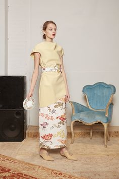 Runway review #NYFW: Rosie Assoulin's artisan furniture inspired #fashion collection is everything