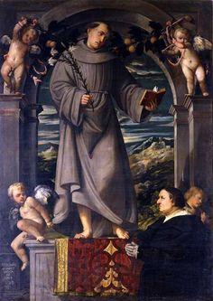 Romanino, S. Antonio con angeli e donatore