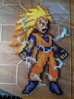 DBZ  Goku Perler Beads by Khoriana on deviantART