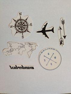 6 Travel Temporary Tattoos Pack SmashTat by SmashTat on Etsy, $13.00