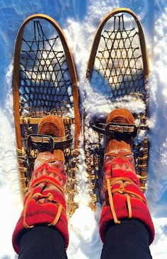 Anita Holladay - These were taken in North Pole, Alaska it was -20 degrees Fahrenheit and my feet were so warm during 2 hours of snowshoeing! - North Pole, Alaska #mukluk #stegermukluks