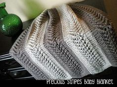 Precious Stripes Baby Blanket | Craftsy