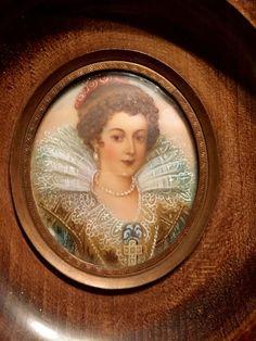 Antique Portrait Miniature Of Élisabeth de France