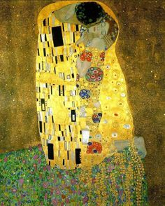 The Kiss (In German: Der Kuss) was painted by the Austrian Symbolist painter Gustav Klimt between 1907-08, the highpoint of his 'Golden Period', when he painted a number of works in a similar gilded style.