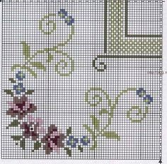 Xmas Cross Stitch, Cross Stitch Borders, Cross Stitch Rose, Cross Stitch Alphabet, Cross Stitch Flowers, Cross Stitch Designs, Cross Stitching, Cross Stitch Embroidery, Embroidery Patterns