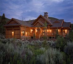 Nice to come home to this (in Colorado) ...  www.timberframe1.com