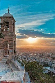 Vista de Atenas desde el Monte Likavitos.