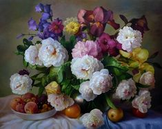 Wonderful Beautiful Oil Paintings Flowers Painting Fruit Flower New Hd Wallpaper