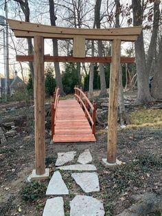 Garden Bridge, Pergola, Outdoor Structures, Japan, Outdoor Pergola, Japanese