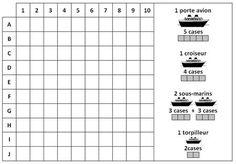 Grilles de bataille navale pr tes imprimer jeu de strat gie french bataille navale jeu - Grille de bataille navale a imprimer ...