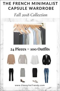 The French Minimalist Capsule Wardrobe: Fall 2018 Collection - Classy Yet Trendy Capsule Wardrobe Mom, Wardrobe Sets, Fall Wardrobe, Work Wardrobe, Fall Fashion Trends, Autumn Fashion, Fashion Ideas, Fall Trends, Spring Fashion