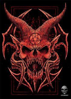 Sat Satanic Tattoos, Satanic Art, Arte Horror, Horror Art, Diy Poster, Imagenes Dark, Art Sketches, Art Drawings, Bauch Tattoos