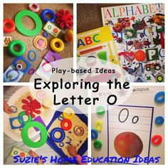 Play-based ideas on Exploring the Letter O with links to printables - Suzies Home Education Ideas spelling 1 Teaching Abcs, Teaching The Alphabet, Learning Letters, Letter O Activities, Learning Activities, Phonics Blends, Toddler School, Letter Of The Week, School Readiness