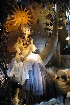 NYC: Bergdorf Goodman's 2008 Holiday window display - Calendar Girls - Autumn   Flickr - Photo Sharing!