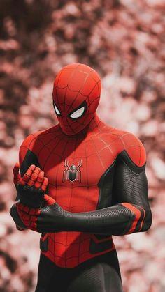 Hero Marvel, Marvel Avengers, Spiderman Marvel, Spiderman Costume, Spiderman Spiderman, Marvel Art, Man Wallpaper, Avengers Wallpaper, Mobile Wallpaper