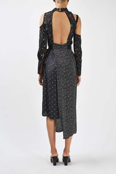 Mixed Print Funnel Dress by Boutique - Topshop USA