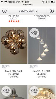 Bhs Candelabra, Pendant Lighting, Lounge, Ceiling Lights, Jewelry, Airport Lounge, Jewlery, Bijoux, Schmuck