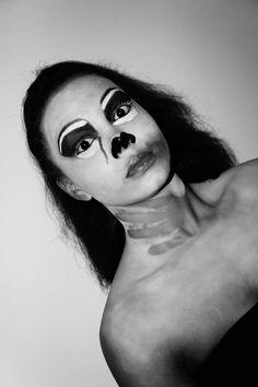 Halloween makeup #strangled zombie