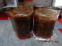 piment, gingembre, pomme, vinaigre balsamique, sel, tomate verte, sucre, raisin