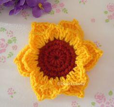 Updated. Bunga matahari dan cara-caranya:   Abbreviation   MR - magic ring  dc - double crochet  hdc - half double crochet  sc - single croc...