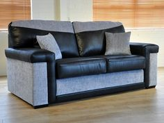 The stylish Hendrix range is made with a solid wood frame in our very own workshop in Yorkshire. The sofa bed comes with a metal action pull out unit and is available in a large choice of colours.
