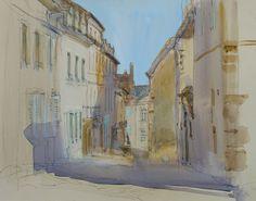 Morning Light Autun . watercolour . Felicity House