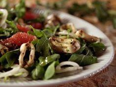 Grilled Calamari and Arugula Salad : Recipes : Cooking Channel, extra virgin