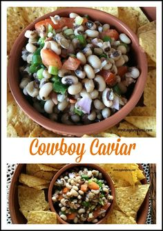 This Cowboy Caviar also called Texas Caviar made with black eye peas, jalapenos and onions.  Seasoned with a olive oil dressing with herbs and plenty of salt and pepper.    http://www.myturnforus.com/2016/01/cowboy-caviar.html