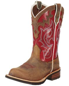 e20f473a212dcd Ariat Women s Unbridled Boot - Powder Brown Mesa Brown Red Cowgirl Boots