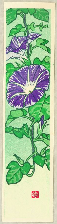 Kasamatsu Shiro: Flower of All Seasons - Morning Glory - Artelino