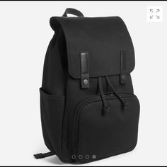 Modern Snap Backpack Everlane black modern snap backpack. In like new condition. I used it twice. Will post pictures of actual bag soon. Price is firm. This is a like new bag. Everlane Bags Backpacks