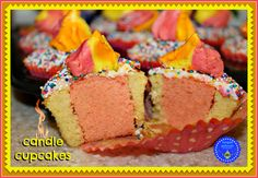 hoopla palooza: candle cupcakes for my 2nd YEAR BLOGIVERSARY
