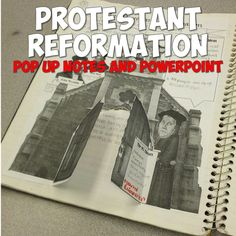 This super-engaging lesson has your students creating a pop up-like graphic organizer in their notebooks on Martin Luther and the Protestant Reformation! It includes the printable graphic organizer, a World History Classroom, World History Teaching, World History Lessons, Study History, Reformation Day, Protestant Reformation, Ap European History, Renaissance And Reformation, Middle School History
