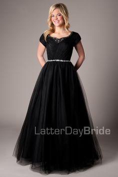 Skylar -Modest Mormon LDS Prom Dress