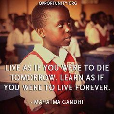 nice quote by Gandhi