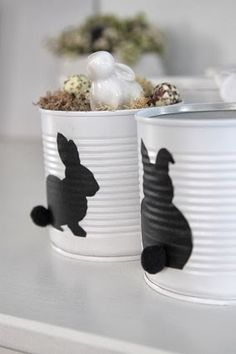 🌟Tante S!fr@ loves this📌🌟 Hoppy Easter, Easter Bunny, Easter Eggs, Tin Can Crafts, Diy And Crafts, Crafts For Kids, Cool Gifts For Kids, Diy Ostern, Easter Celebration
