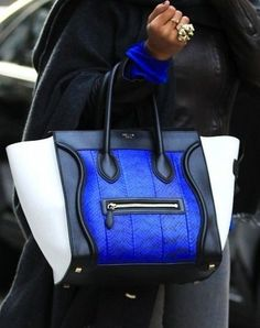 Celine Bag || Royal Blue & Black