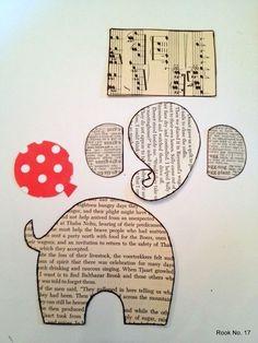 """Materiales gráficos Gaby: Diseño de tarjetas muy creativas """"Elefantes"""""""