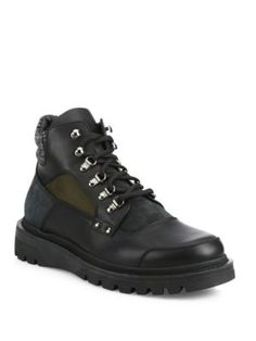 MONCLER Leather Winter Boots. #moncler #shoes #boots